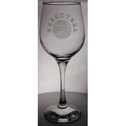 Sklenička na víno basketbal