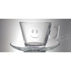 Šálek na kávu s úsměvem