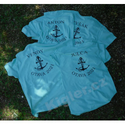 Vodácké tričko s kotvou