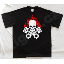 Motorkářské tričko černé s...