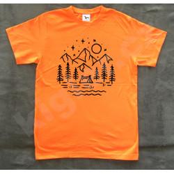 Turistické tričko - stanování