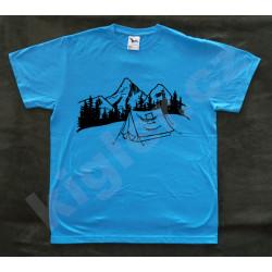 Turistické tričko - stan a...