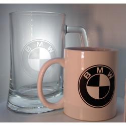 Sada Hrneček a půllitr BMW